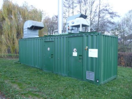 Das Blockheizkraftwerk Aquarena liefert Wärme und Energie