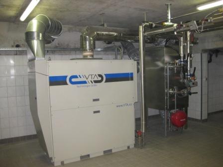 Die Anlage der Mikrogasturbine im Klärwerk Niederscheld