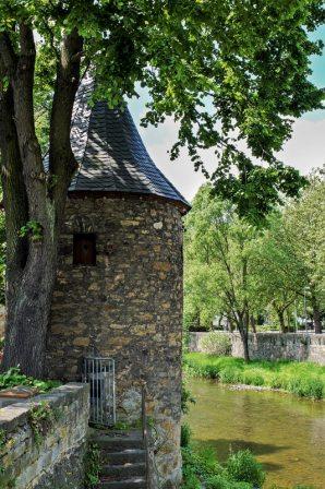 Der Wehrturm gehörte zur ehemaligen Stadtbefestigung