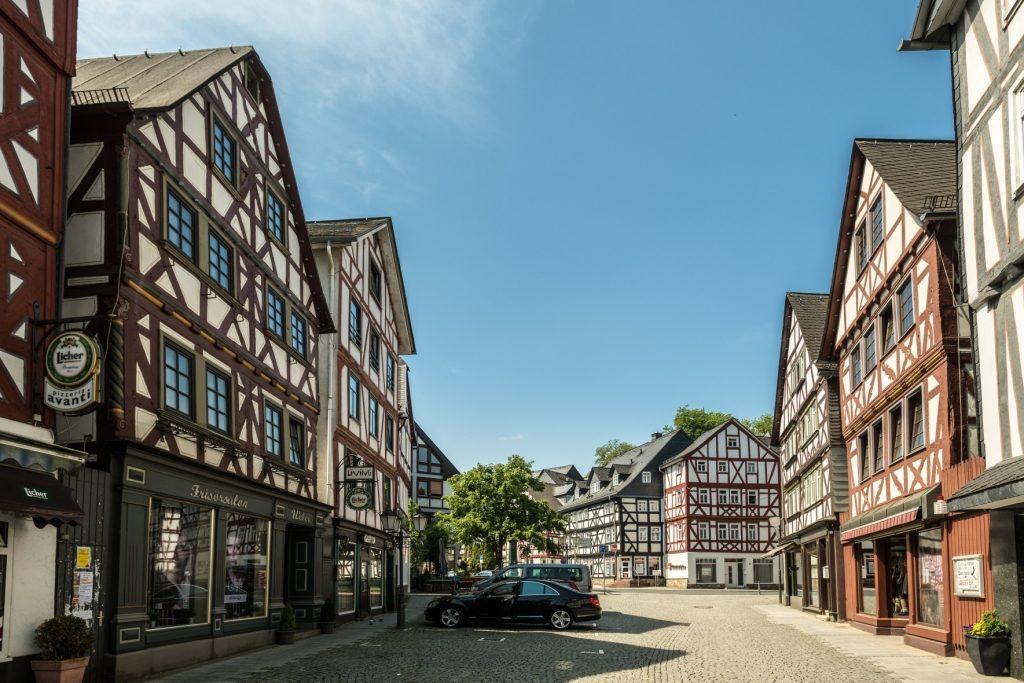Blick in die Dillenburger Innenstadt