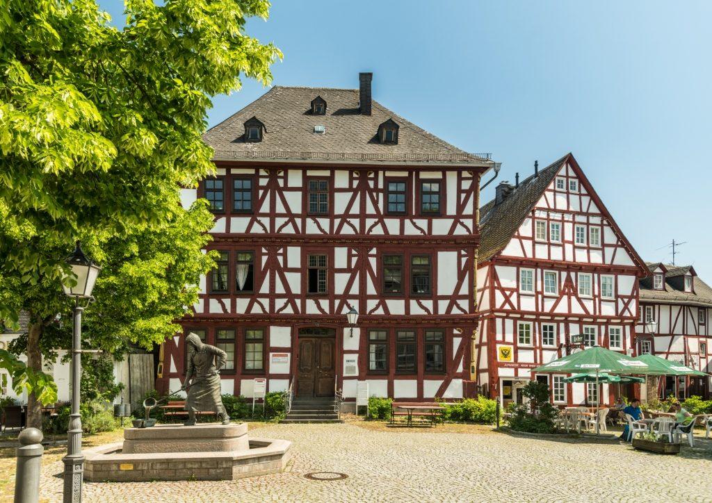 Der Hüttenplatz in Dillenburg