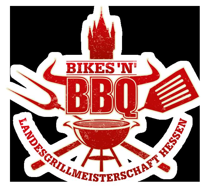 Logo Bikes´n´BBQ mit Landesgrillmeisterschaft Hessen