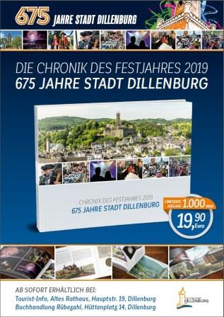 Das Cover zur Chronik der 675-Jahrfeier der Oranienstadt Dillenburg