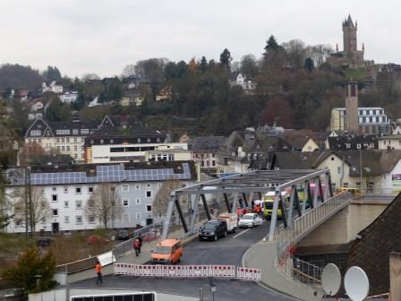 Bild von der Eröffnung der Hohlbrücke