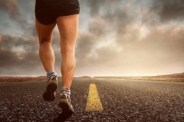 Eine laufende Person