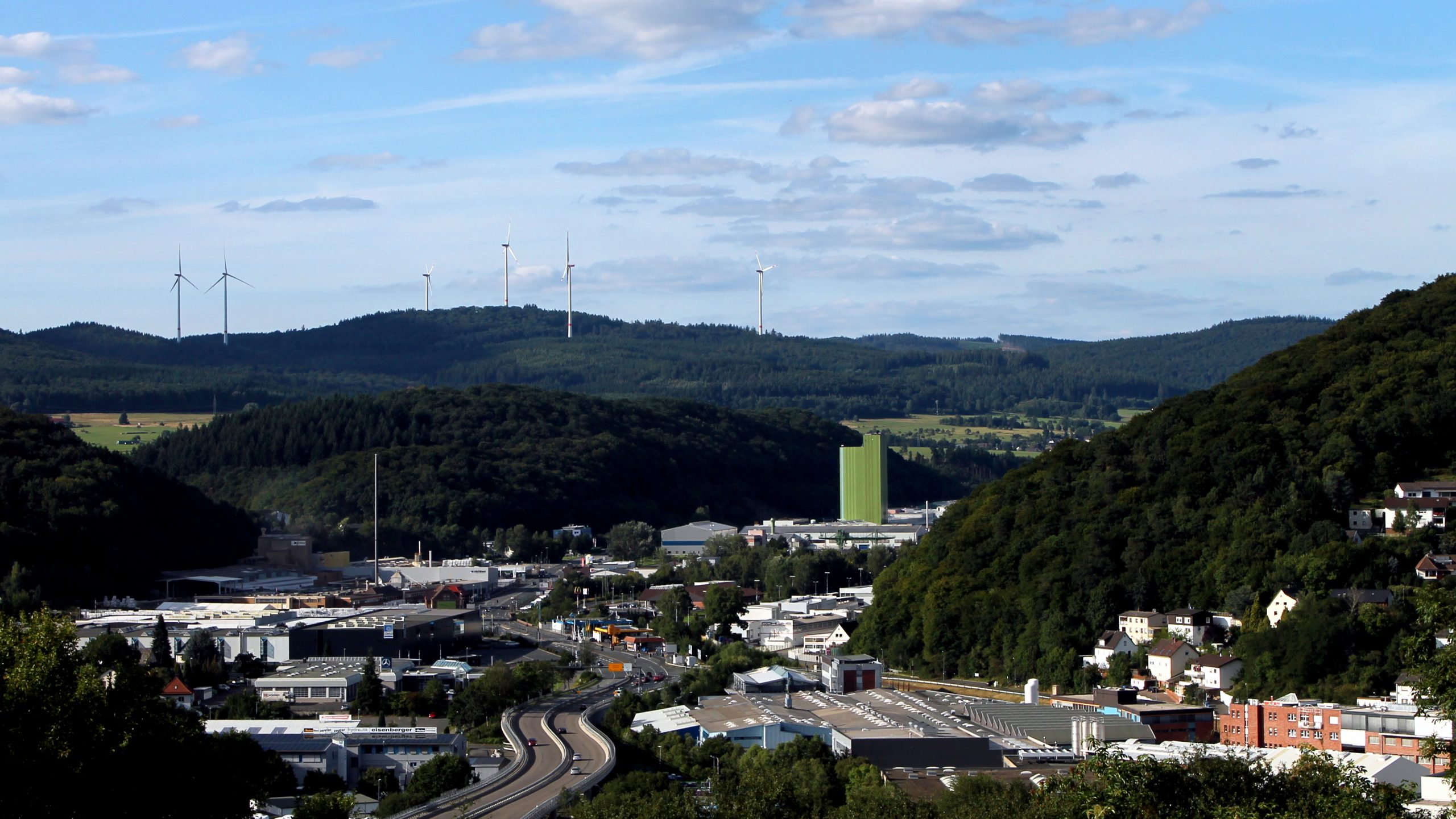 Ein Blick auf das Gewerbegebiet Dillenburg Nord, Foto Julie Simon