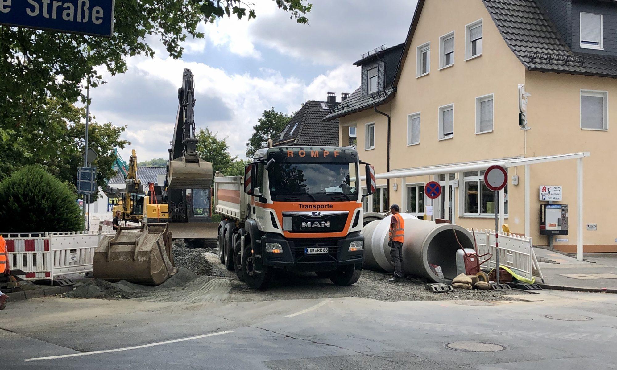Mischwasserkanal wird in der Herwigstraße erneuert