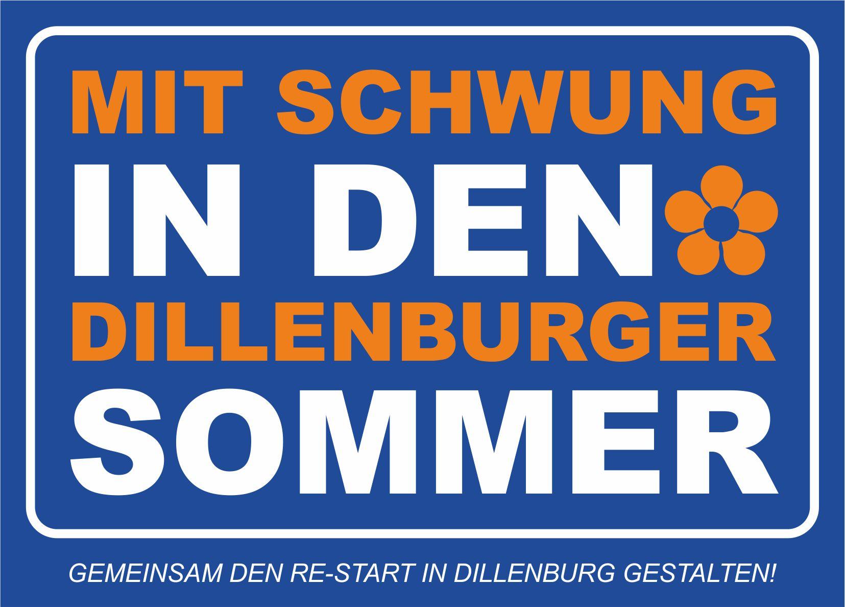 """Bild mit dem Text """"Mit Schwung in den Dillenburger Sommer"""""""