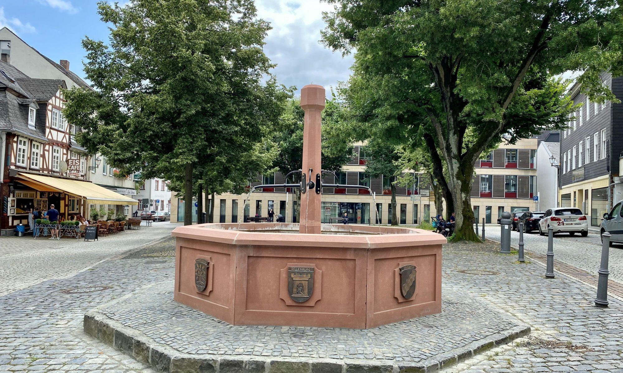 Der neue Brunnen am Wilhelmsplatz